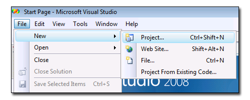 Visual Studio New Project