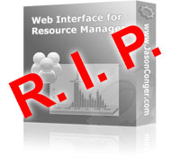 Web Interface for Resource Manager is Dead